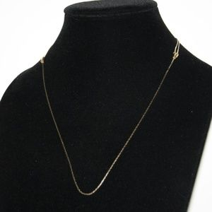 Vintage gold adjustable necklace